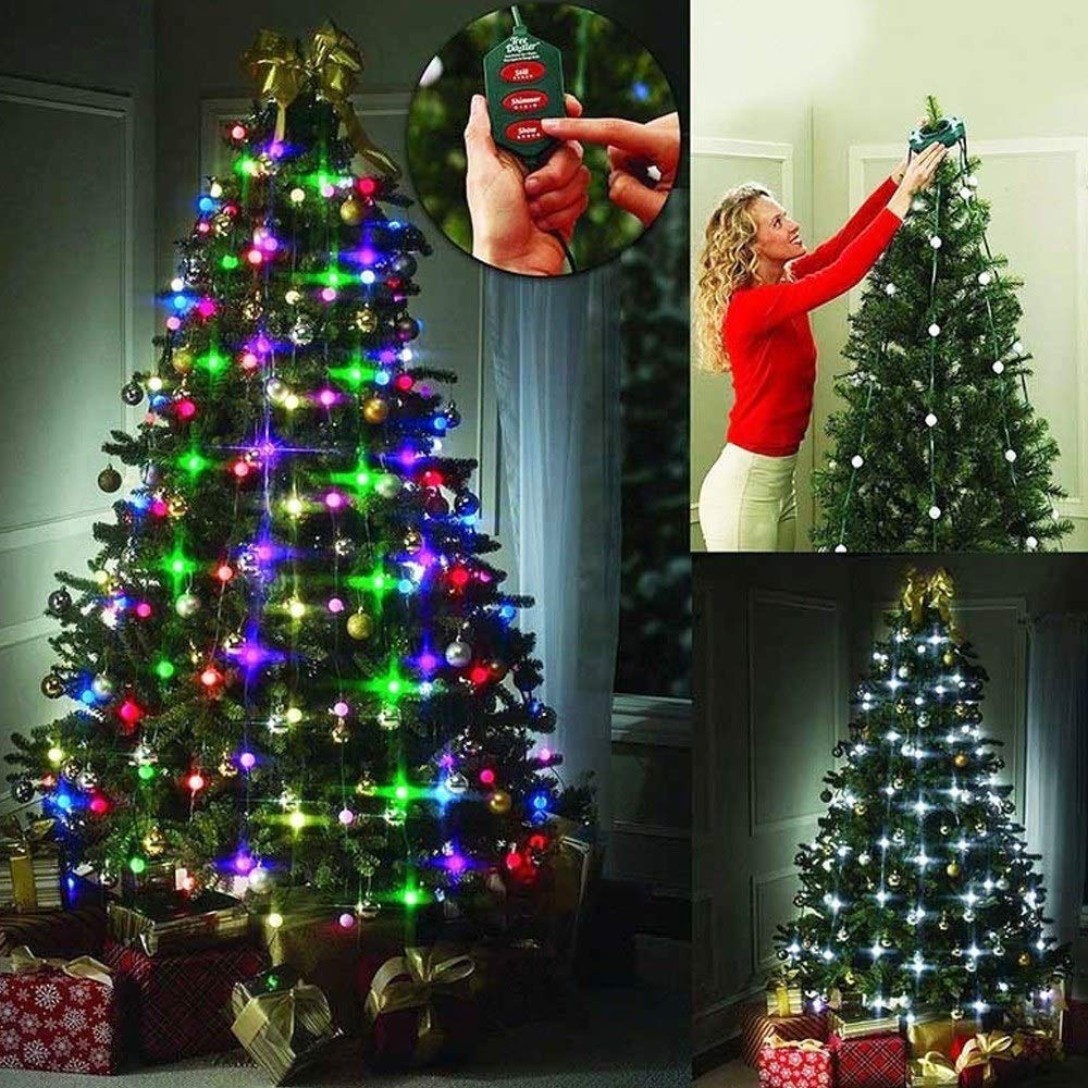 Garland Christmas Tree Decor LED Fairy Twinkle Garland Ball String Lights 64 LEDs With Controller New Year Decoration Wedding