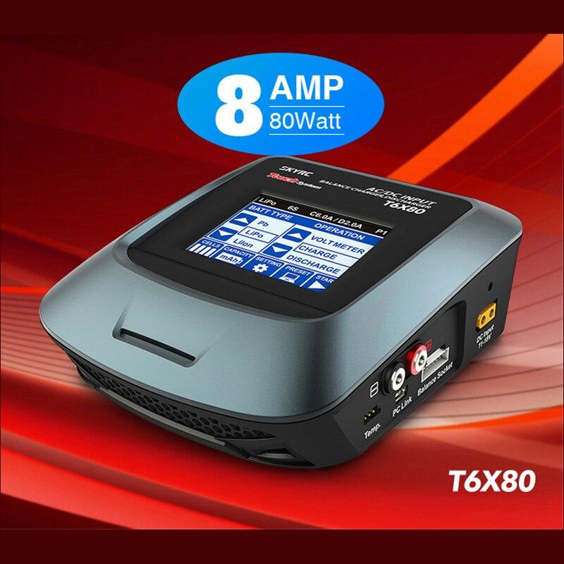 Оригинальный сенсорный ЖК экран SKYRC T6X80 80 Вт 8A AC/DC, профессиональное зарядное устройство для аккумулятора, зарядное устройство для LiPo/LiFe/Lilon батареи Детали и аксессуары      АлиЭкспресс
