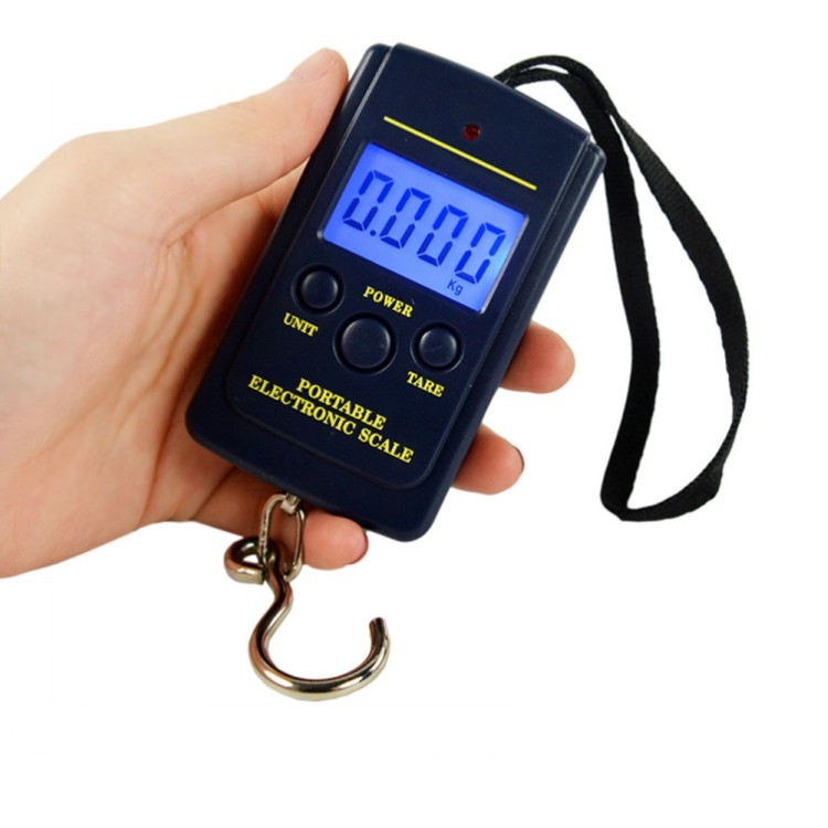 40Kg/10G LCD Mini Protable Pocket Digital Weighting Fishing Scale Electronic Hanging Multi Used Balance Fish Scale Weight Auto