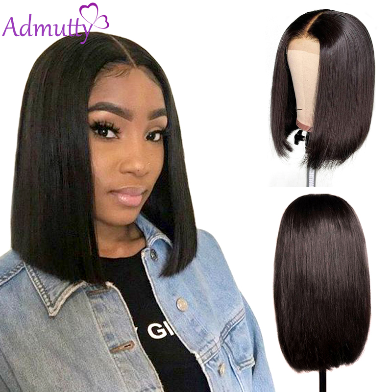 Short Lace Front Human Hair Wigs Brazilian Straight Lace Front Wig Bob Lace Front Wigs For Back Women Non Remy Admutty Hair