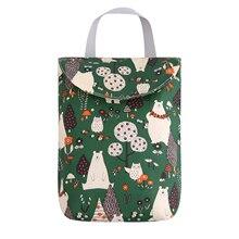 Влажный/сухой мешок Мумия сумка для хранения модные принты Путешествия подгузник вставки сумка Luiertas Водонепроницаемый Многоразовые Детские Пеленки Caddy Органайзер