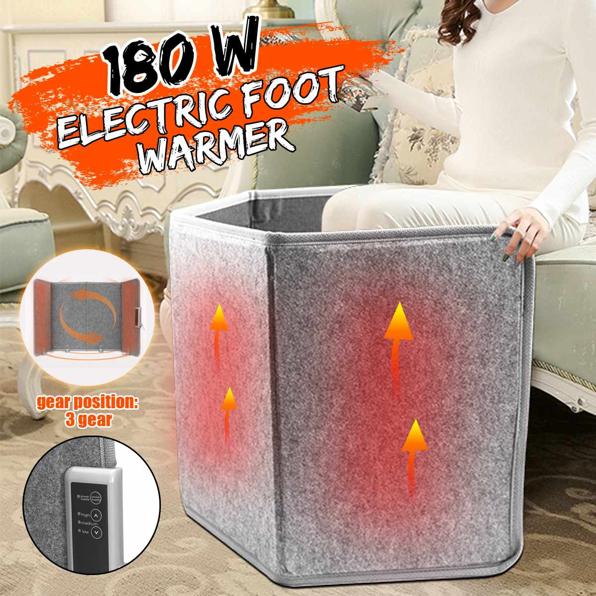Fold Electric Heater Mini Warm Leg Warmer House Under The Table Heater Electric Heating Foot Treasure Heating