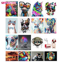 GATYZTORY 60x75cm Frame Diy Oil Digital Painting By Bumbers Kits Animal Abstract Acrylic Paint By numbers For Adults Home Decors