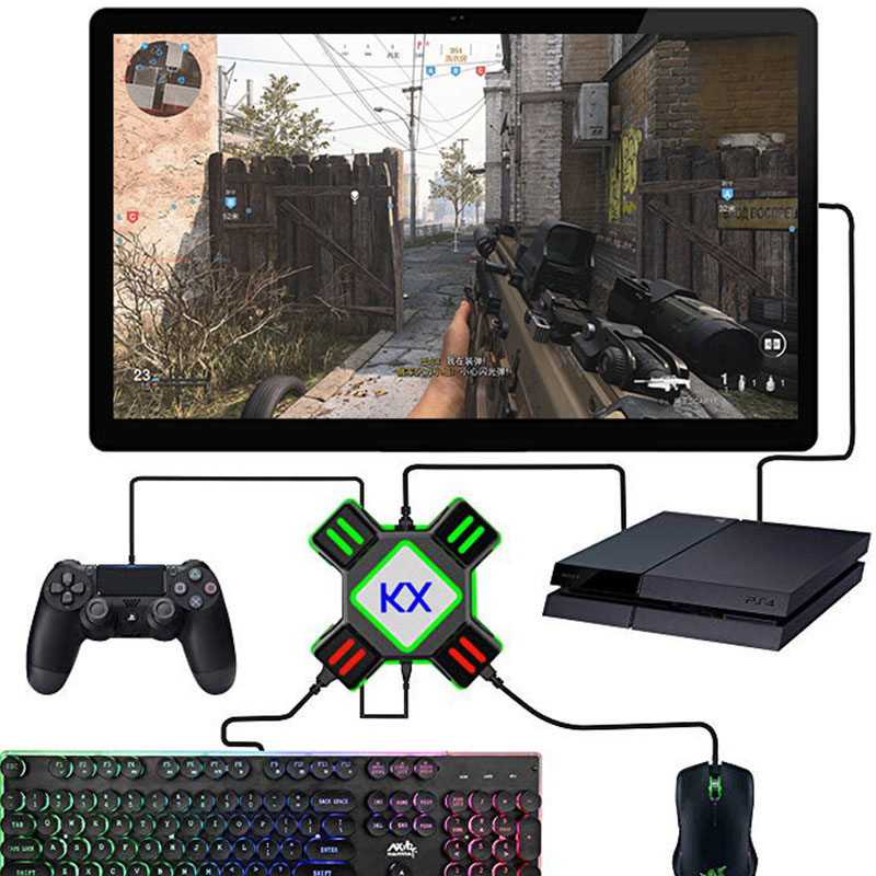 Keyboard Mouse Converter Gamepad Controller Adapter Support All Major Mainstream Handles Keyboard Mouse For PS4 Xbox One Switch
