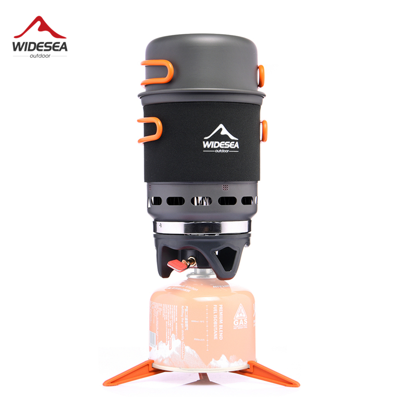 Widesea Camping Stove Outdoor Cookware Cooking Systerm Pot Pan Propane Gas Burner