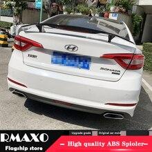 Для hyundai Sonata 9 спойлер 2011- Sonata 9 Высокое качество абс материал заднее крыло праймер цвет задний спойлер