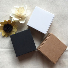 20pcs 19 sizes Black gift cardboard box brown kraft carton soap packing gift paper box white jewelry gift packaging paper box(China)