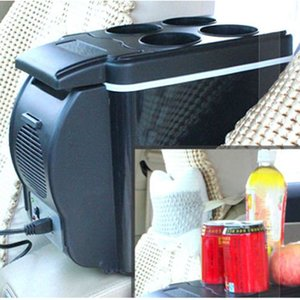12V 6L Capacity Portable Car Refrigerator Cooler Warmer Truck Thermoelectric Electric Fridge