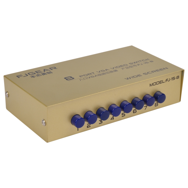 8 Port Vga Switch Video Switcher Box 1920*1440 250mhz 8 In 1 Out Support Selector For Pc Monitor To Be Highly Praised And Appreciated By The Consuming Public