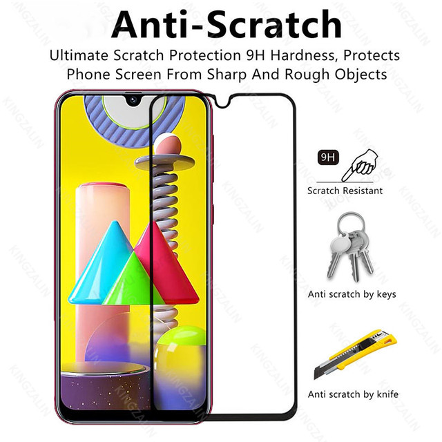 2 in 1 camera lens protective glass for samsung galaxy m31 m30 s m51 m21 m11 m12  screen tempered glass for samsung m30 m31 m21s 2