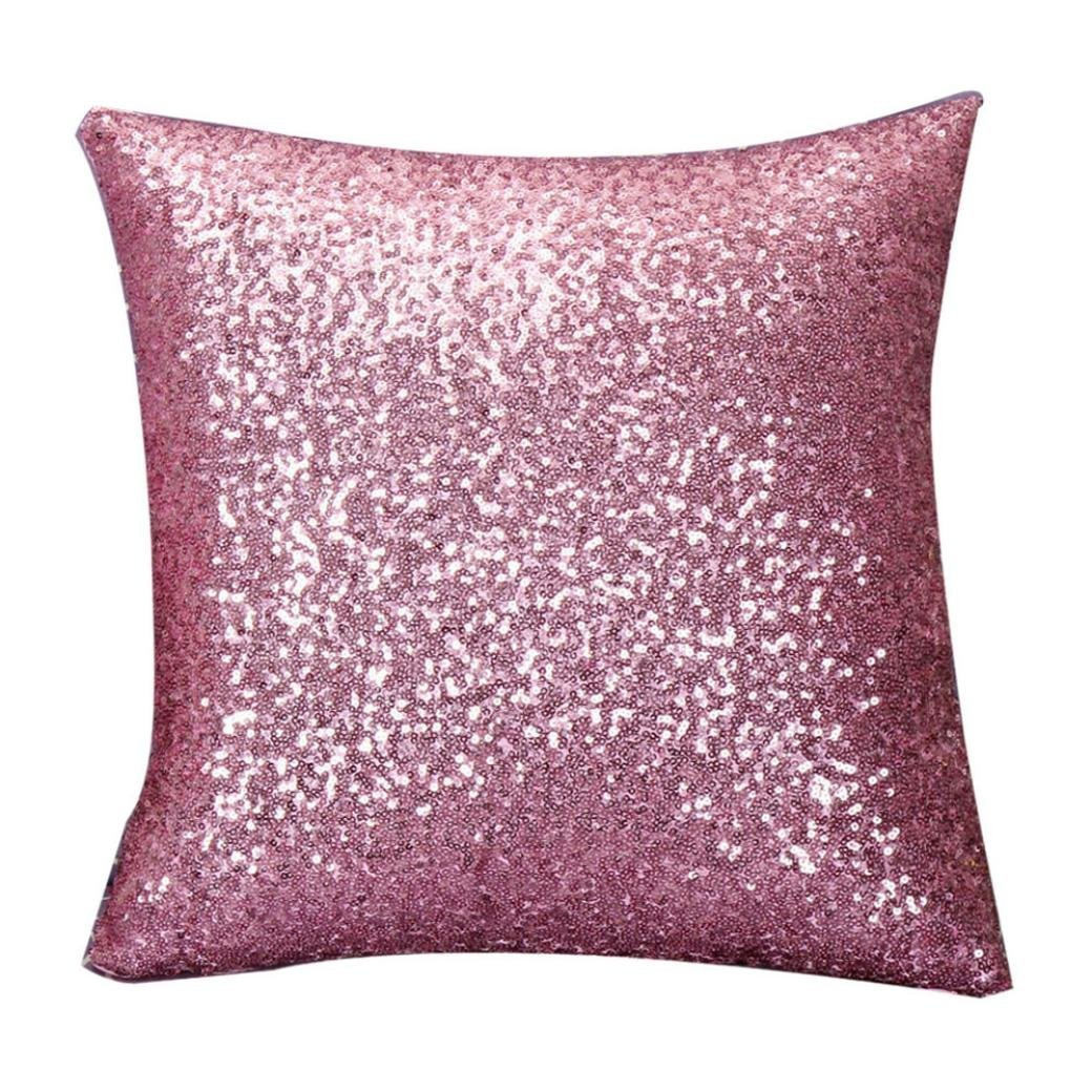 Throw Pillow Cover Pink Sequin Decorative Throw Pillow Case Cushion Cover Pillow Cushion Covers for Home