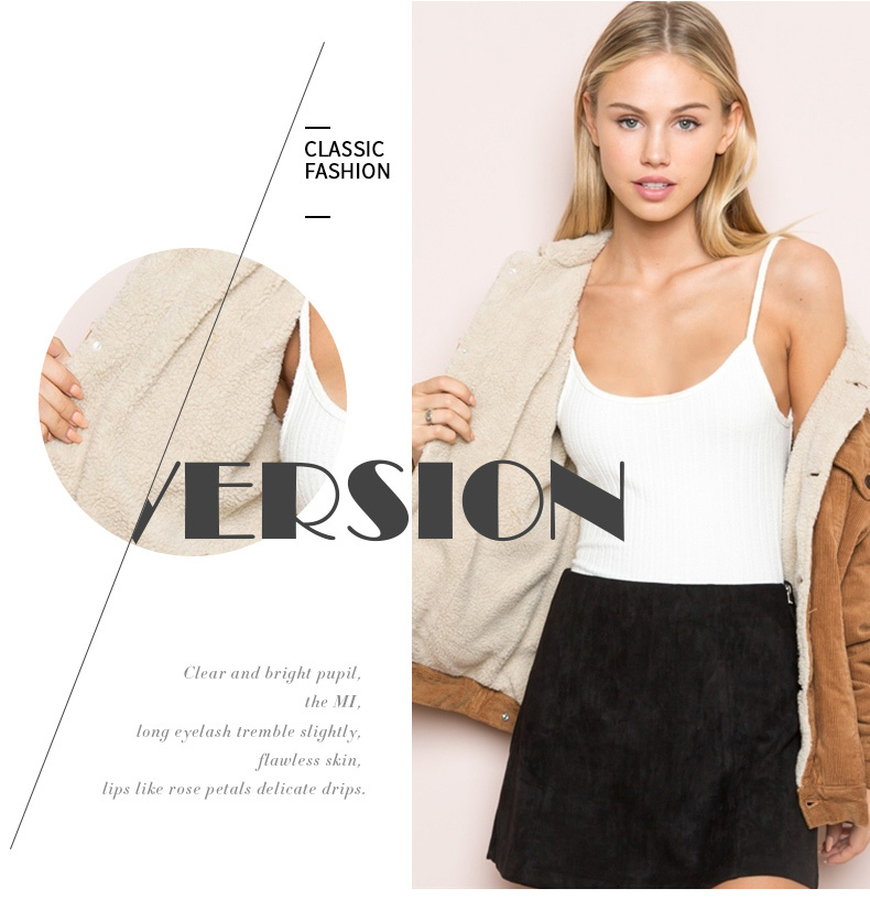 H690aac18cb724af19392851ec6f3f333u HDY Haoduoyi Winter Casual Brown Corduroy Long Sleeve Turn-down Collar Denim Jacket Single Breasted Basic Women Warm Cotton Coat