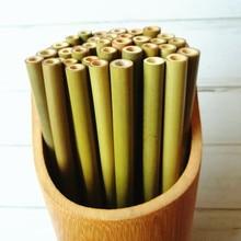 Bamboo Straws Wedding-Bar-Tools Wood Party Birthday Organic Natural 11/10PC