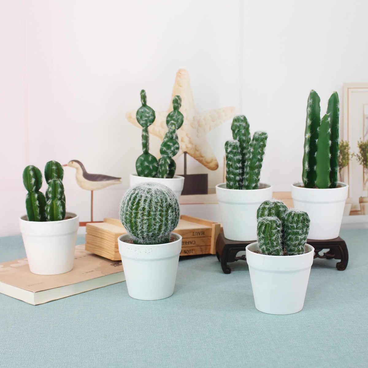 Artificial Succulents Plants Fake Bonsai Cactus Home Garden Wedding Decoration
