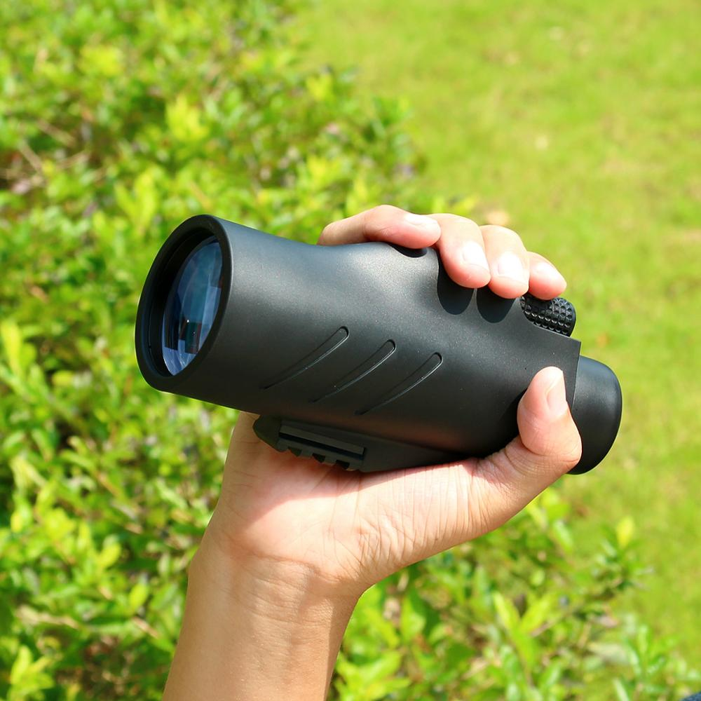 SVBONY Monocular 10X50/12x50 Waterproof Telescope Aluminum Reflective Coating BAK4 Prism +Hand Strap For Hunting Camping Hiking