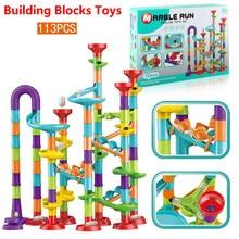 DIY Maze-Balls Building-Blocks Track Race-Run for Children Construction-Marble Education
