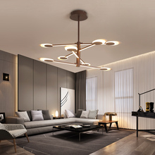 New Modern LED Ceiling Light Brown Lamp for living room bedroom Aluminum cocina accesorio lampara techo plafonnier led