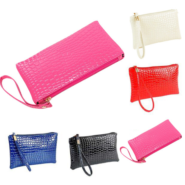 H690b2da86f7d41c9a877efa88bb6f650J - Women Coin Purse small wallet Crocodile Leather