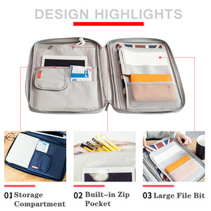 Image 5 - Multi functional A4 Document Bags Filing Pouch Portable Waterproof Oxford Cloth Organized Tote For Notebooks Pens Computer Stuff