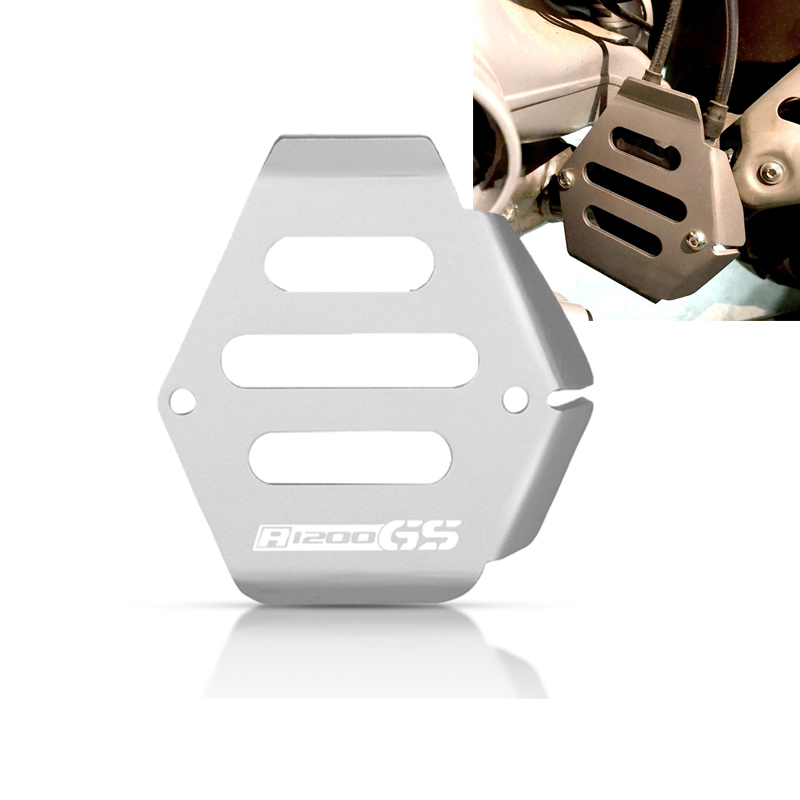 For BMW R 1200 GS Adventure 2010 <font><b>2011</b></font> 2012 <font><b>R1200GS</b></font> R1200 GS Motorcycle Exhaust Flap Cover Exhaust Flap Guard Cover Protector image
