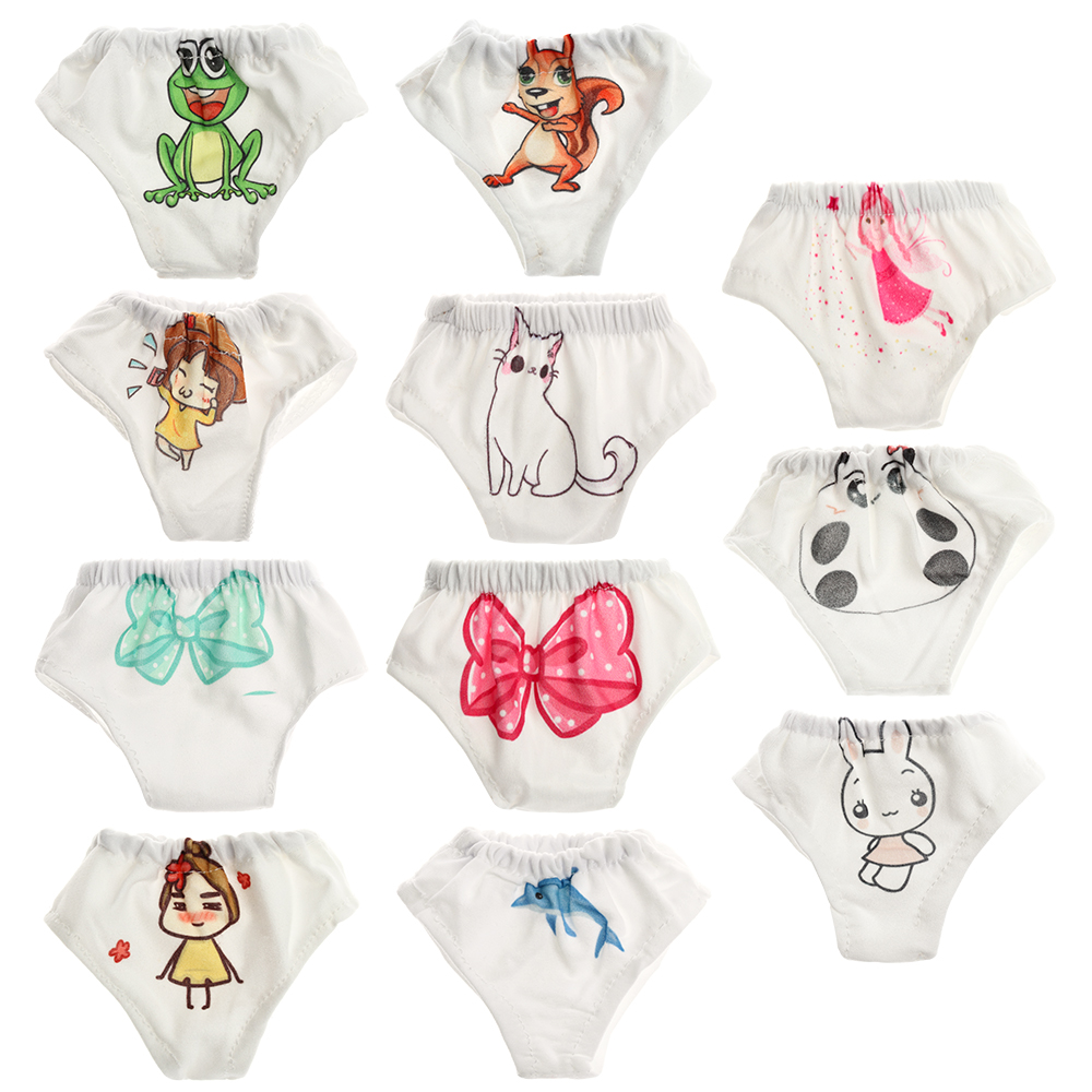 11 Cute Pattern Underwear Panties for American 18 Inch Girl Doll and  New Born Baby Doll Clothes Accessories Our Generation