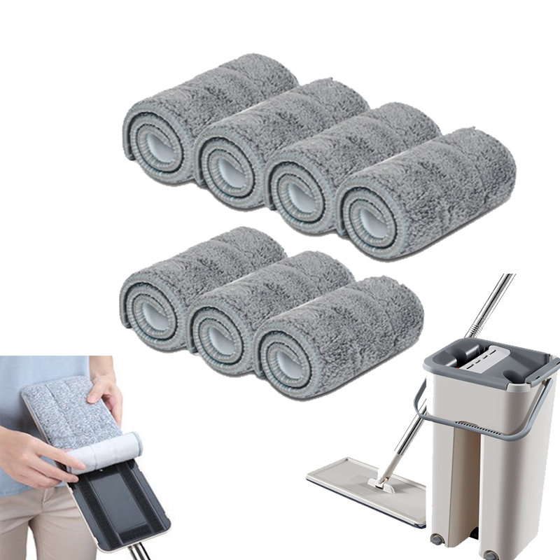 5/7/10PCS Microfiber Floor Mop Cloth Replace Rag Mop Self Wet And Cleaning Paste Mop Dry Cleaning Mop Floor Cloth Home Bathroom(China)