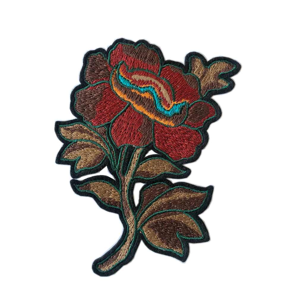Create High Quality Sewn-on Custom Embroidery Patches For Garment Flower Patch