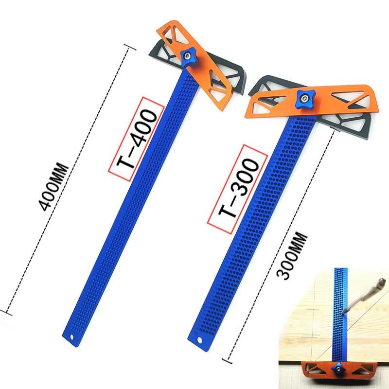 T300/T400 Carpenter werkzeuge T Typ Quadrat Herrscher Holzbearbeitung Aluminium Legierung Glasritzrades Mess Zimmerei Kennzeichnung Werkzeug Gauge Gauging