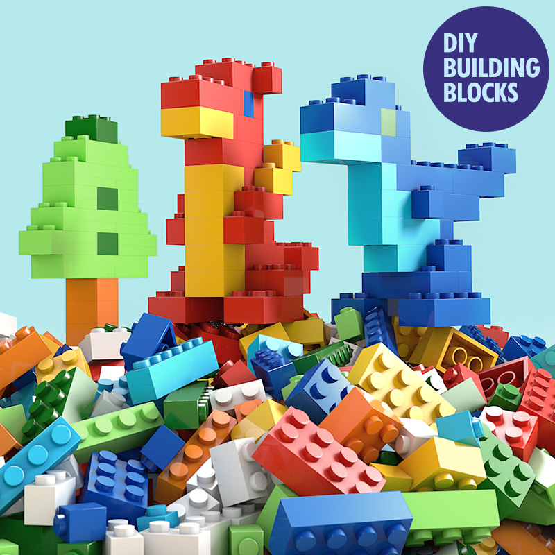 500 <font><b>PCS</b></font> <font><b>1000</b></font> <font><b>PCS</b></font> Children Toys & Hobbies DIY Creative Bricks educational toys Blocks Building Blocks Architecture City Car Toys image