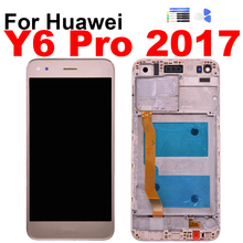 купить For Huawei Y6 Pro Y6 Pro 2017 SLA-L02 SLA-L22 TL00 Display Touch Screen Digitizer LCD Assembly Screen Frame Repair Replacement по цене 1105.93 рублей
