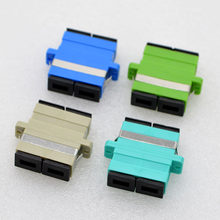 100PCS SC/PC/APC OM3 Optic Fiber Flange Single-Multi Mode Duplex Telecom SC Optic Fiber Coupler Adapter Connector Free Shipping(China)