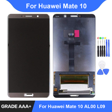 For Huawei Mate 10 LCD ALP-AL00 ALP-L09 ALP-L29 Display Touch Screen Digitizer Assembly Repair Parts Mate 10 Display Replacement 100% new for huawei mate 8 lcd display touch screen digitizer glass sensor assembly replacement parts free shipping