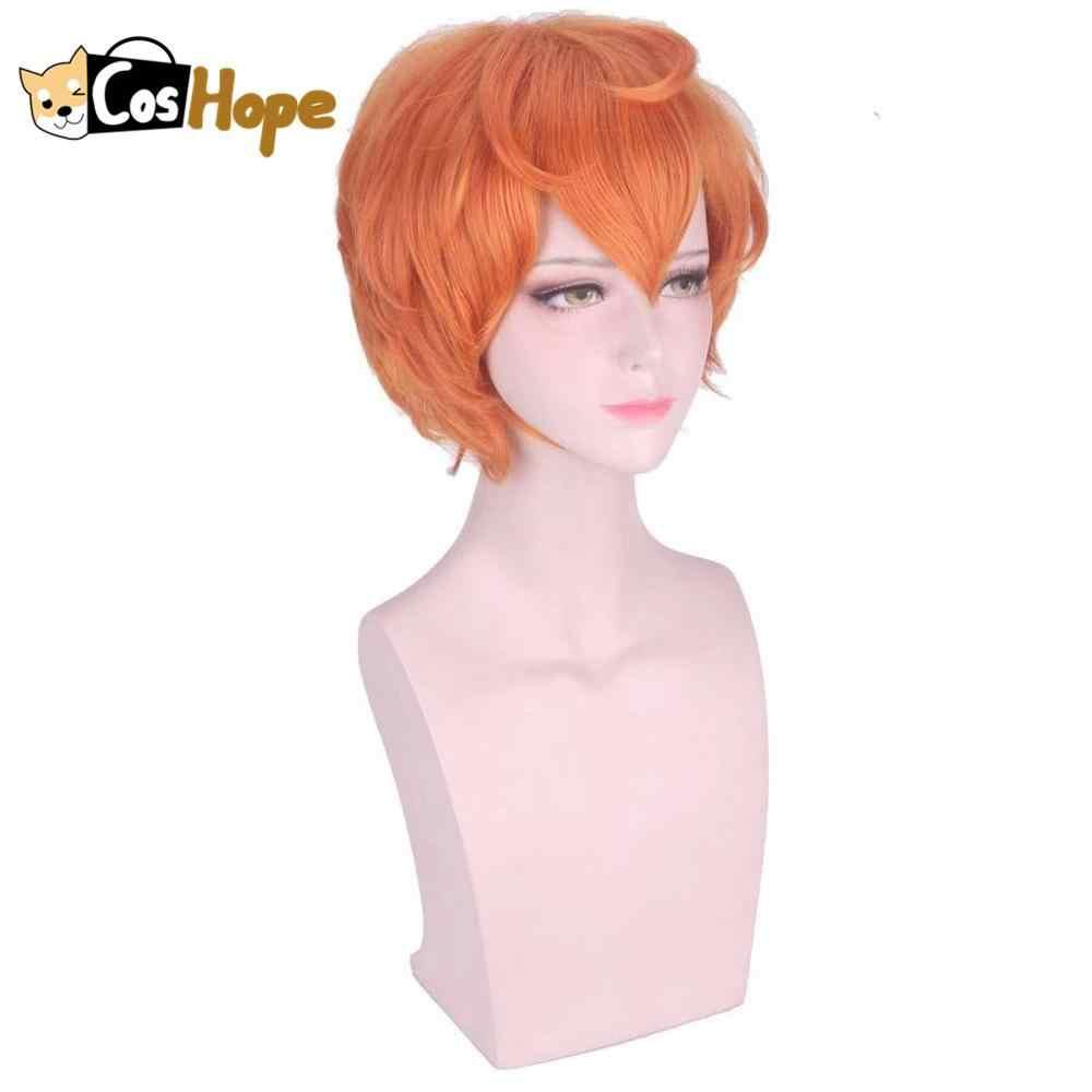 Houseki No Kuni Zircone Cosplay Parrucca Terra del Brillante Cosplay Breve Arancione Anime Parrucche Resistente Al Calore Sintetico Parrucche di Halloween