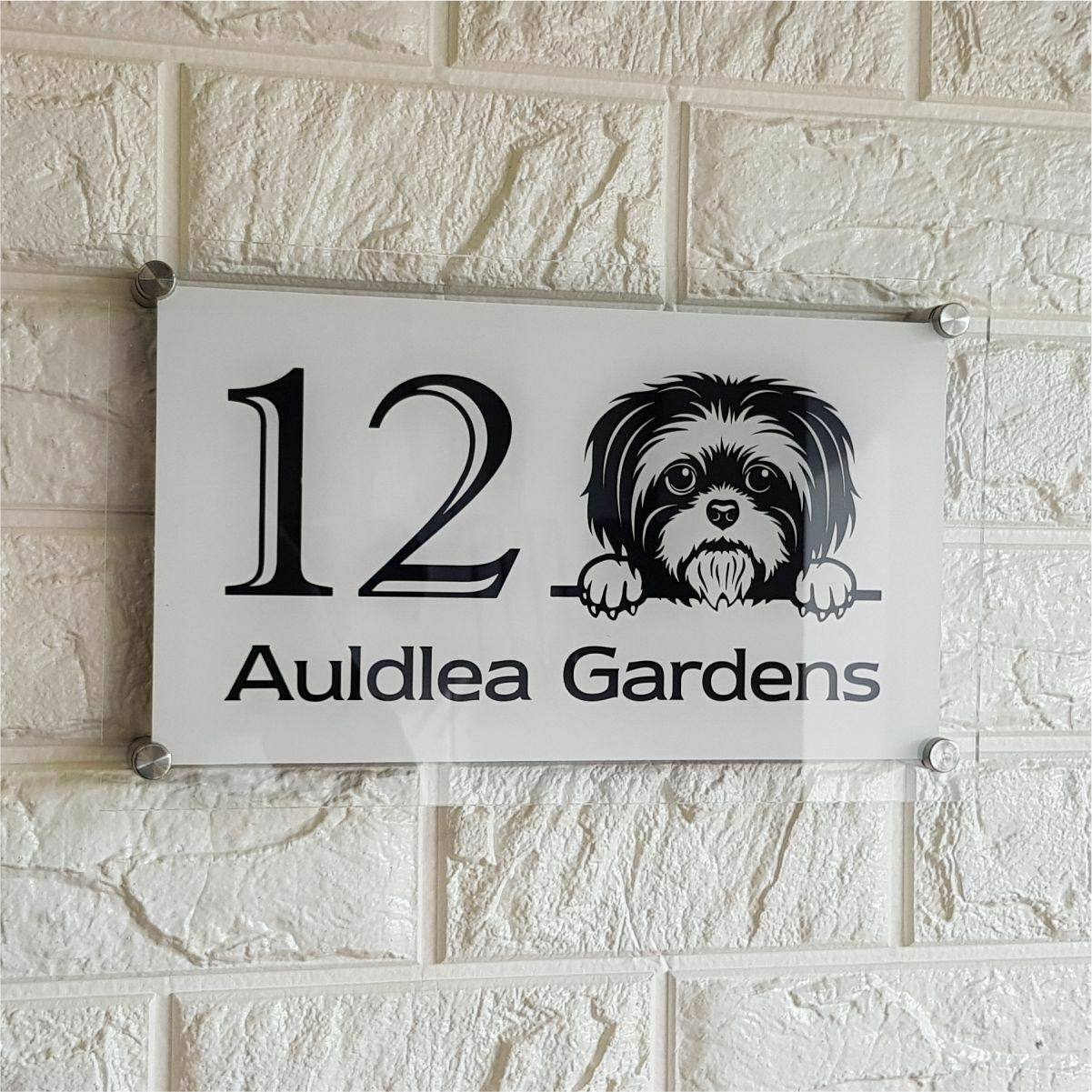 Home Decor Pug Classic Style Custom House Door Number Sign Plaque Home,  Furniture & DIY mhg.co.ke