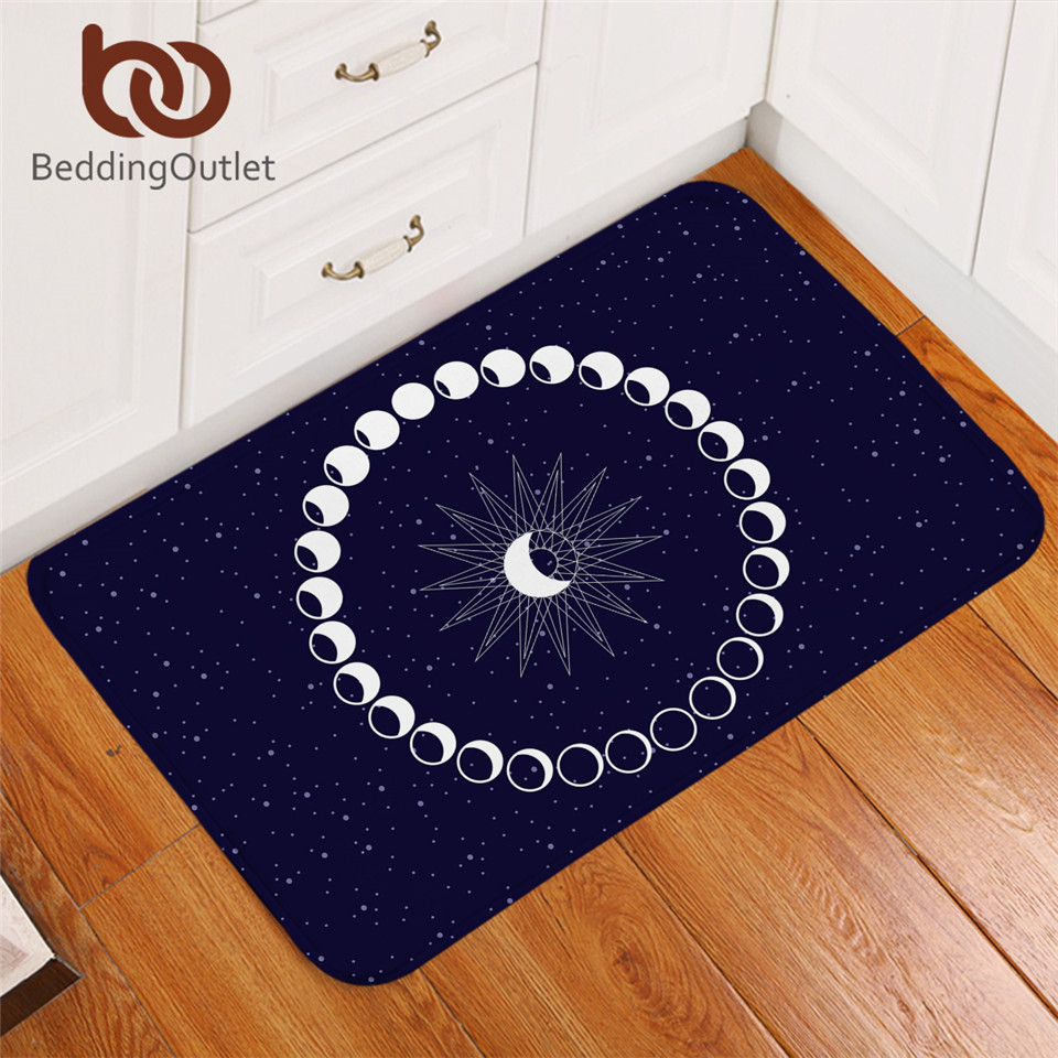 BeddingOutlet Eclipse Living Room Rug Moon Star Bedroom Carpet Galaxy Non-slip Bath Mat Rugs Blue Decorative Doormat Dropship