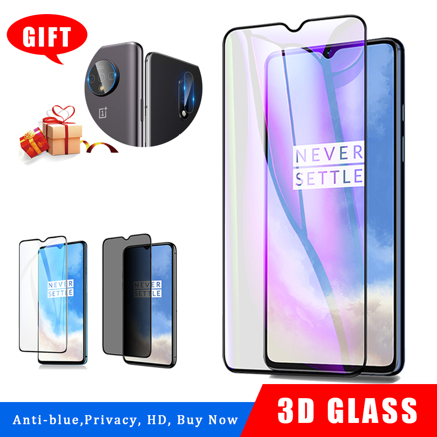 Tempered Glass For Oneplus 7T Screen Protector Oneplus 7 6T 7T Camera Lens Glass Protector Anti Blue Light Ray Privacy Glass