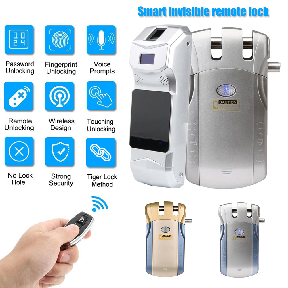 Wireless Remote Control Lock Smart Electronic Door Lock WF010 Keyless Entry Door NC99