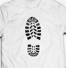 Wandelen Boot Print Northbound Verkennen Avontuur Camping Heren T-Shirt T-shirt Tee Superieure Kwaliteit Tee Shirt(China)