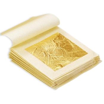 Jadalne złote arkusze liści 10 arkuszy 4 33 #215 4 33cm 24K czystej prawdziwej twarzy złota folia do gotowania ciasta czekoladki dekoracji tanie i dobre opinie Gold 4 33x4 33 Edible Gold Leaf Paper 24K Pure Genuine Facial Gold Foil cakes cupcakes macaroons chocolates desserts baking goods