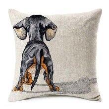 Такса Роза наволочки бультерьер собака любовь бросок наволочка 45X45 см спальня диван украшение
