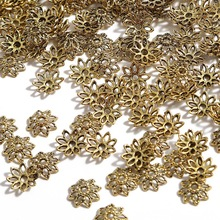 Beads-Caps Petal Charms Jewelry-Making-Accessories Flower Bulk End-Spacer Diy-Supplies