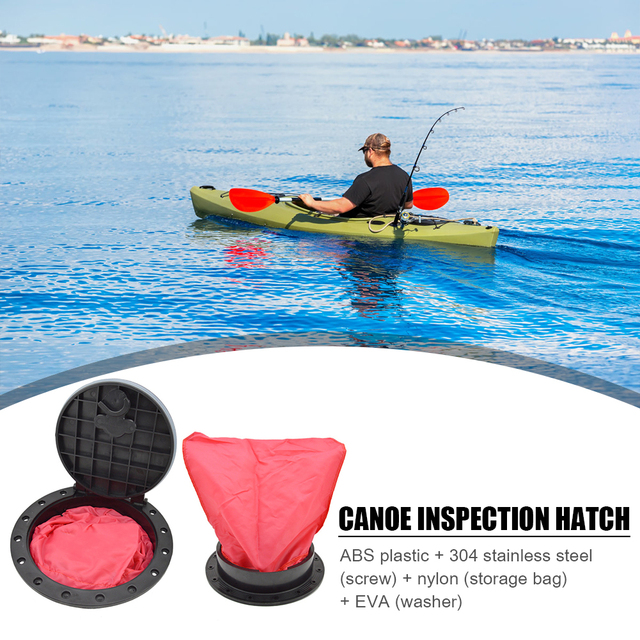 4//6//8 Inch Round Hatch Cover Non-Slip Deck Plate for Marine Boat Kayak Canoe HOT