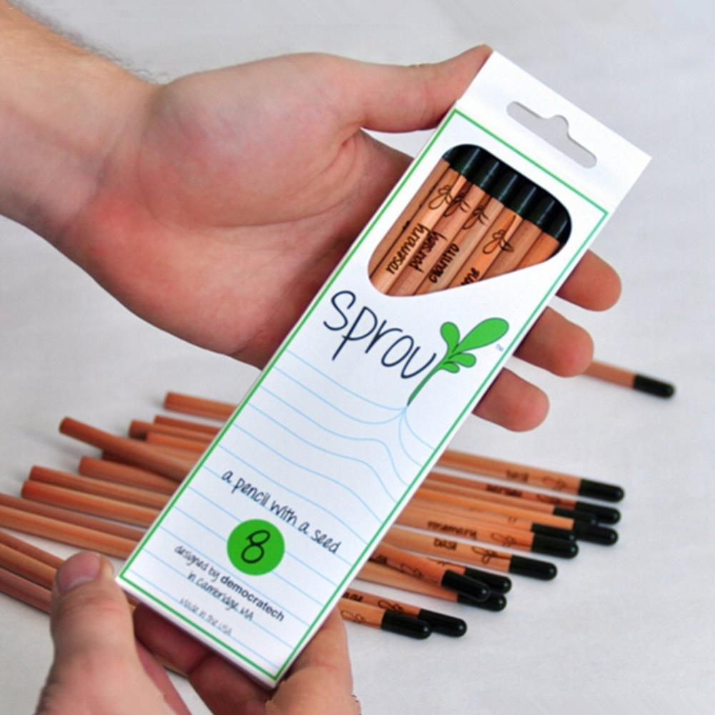 8pcs Sprout Pencil Idea Germination Pencil Set To Mini DIY Desktop Potted Plant Grow Pencils For School Office Desk Accessories