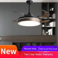 LED Ceiling Fans Light Invisible Modern Minimalist Living Room Inverter  Led with Lights