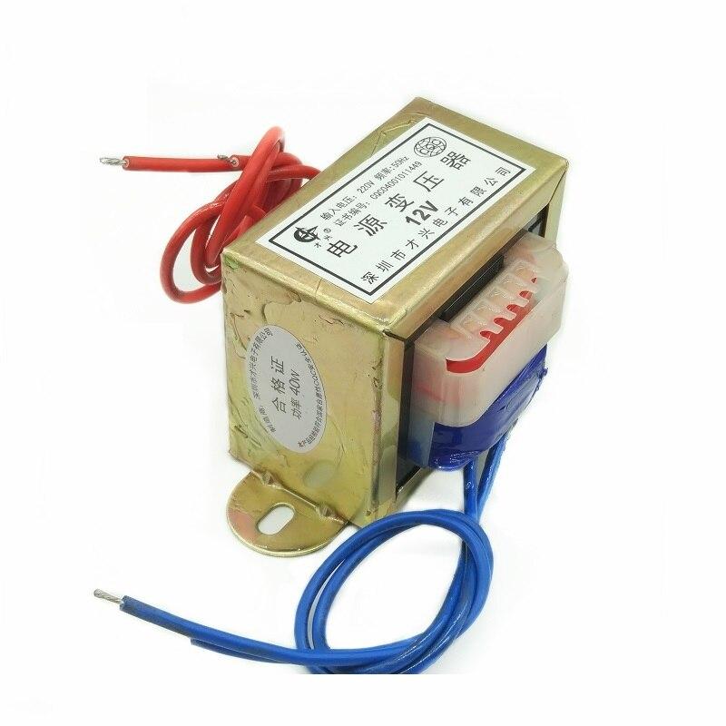 Трансформатор, трансформатор 40 Вт, от 220 В до 12 В, 3 А, переменный ток 12 В