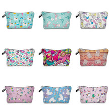 Vogvigo Cartoon Animal Printing Makeup Bags With Multicolor Pattern Cosmetics Pouchs For Travel Ladies Pouch Women Cosmetic Bag