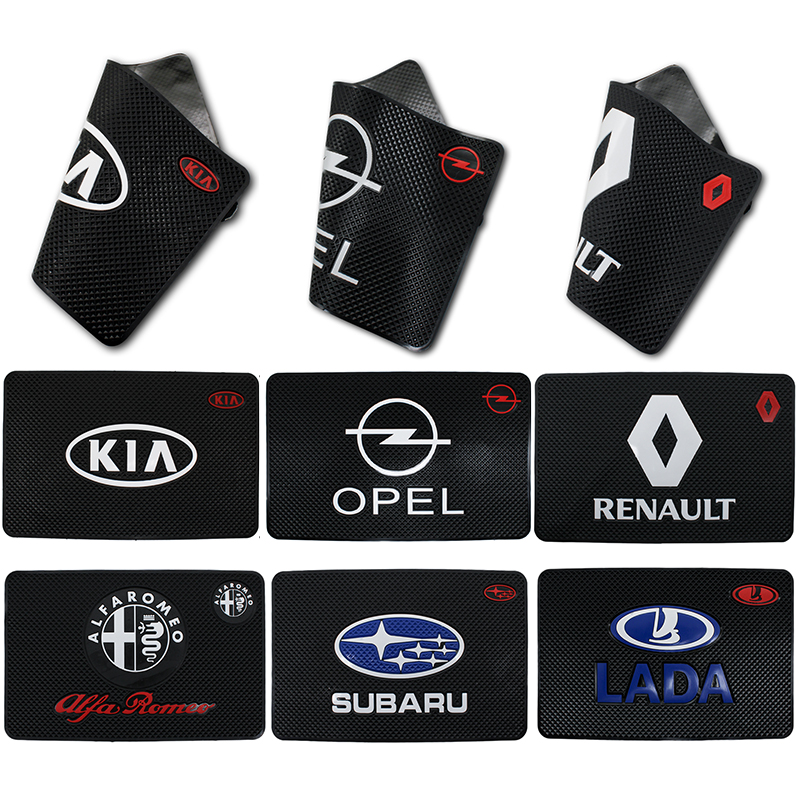 Car Ornament PVC Anti-Slip Mat Sticky Pad Automobiles Interior Dashboard Non Slip Mat For BMW Ford Kia Reynolds SEAT Toyota Audi