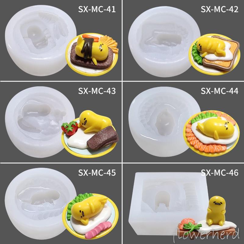Kawaii Gudetuma Egg Yolk Lazy Egg Cake Silicone Molds Handmade Soap Cartoon Plaster Aroma Mould Chocolate Gumpaste Fondant Molds|Cake Molds| |  - title=