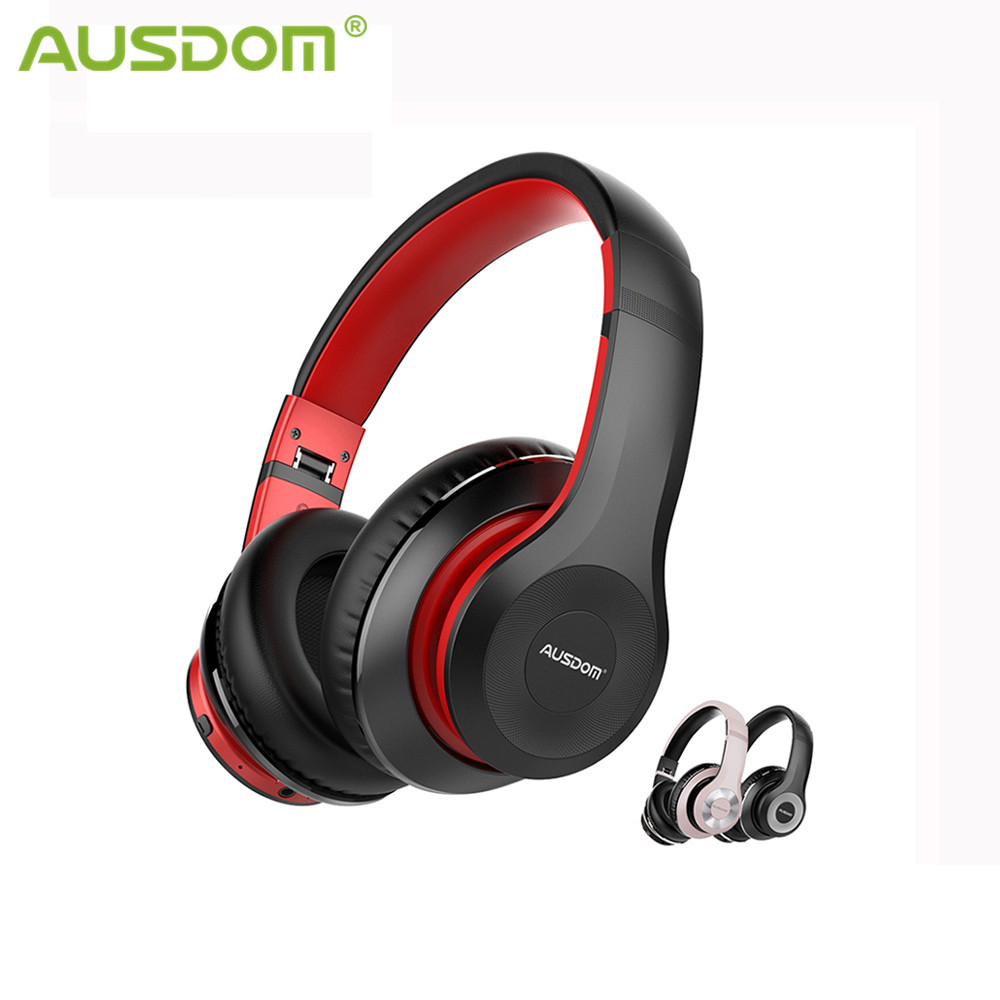 AUSDOM ANC10 Bluetooth Wireless Headphones Active Noise Cancelling Foldable 30H Play time Hifi Deep Bass Bluetooth Headset 1