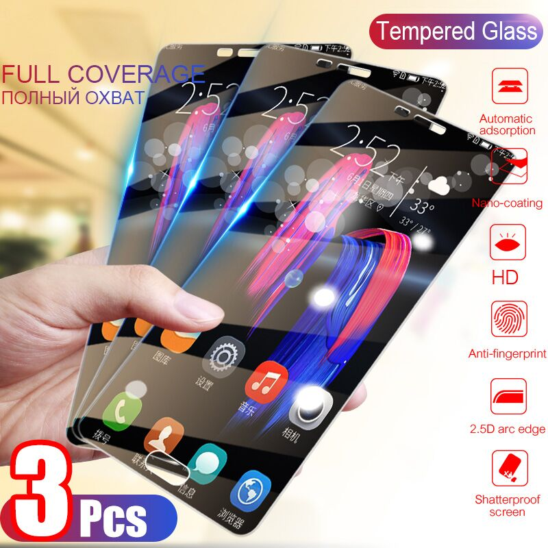 3Pcs Tempered Glass For Samsung Galaxy J4 J6 A6 A8 Plus A9 2018 Screen Protector Protective Glass For Samsung A5 A7 2017 Glass